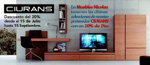 Promoci n ciurans - Muebles nicolau ...