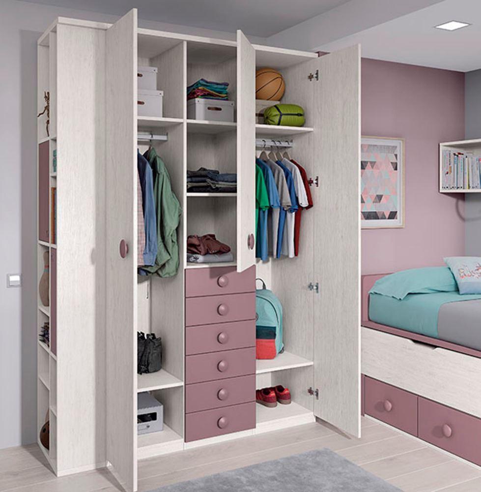 Habitaci n juvenil con cama compacta - Muebles nicolau ...