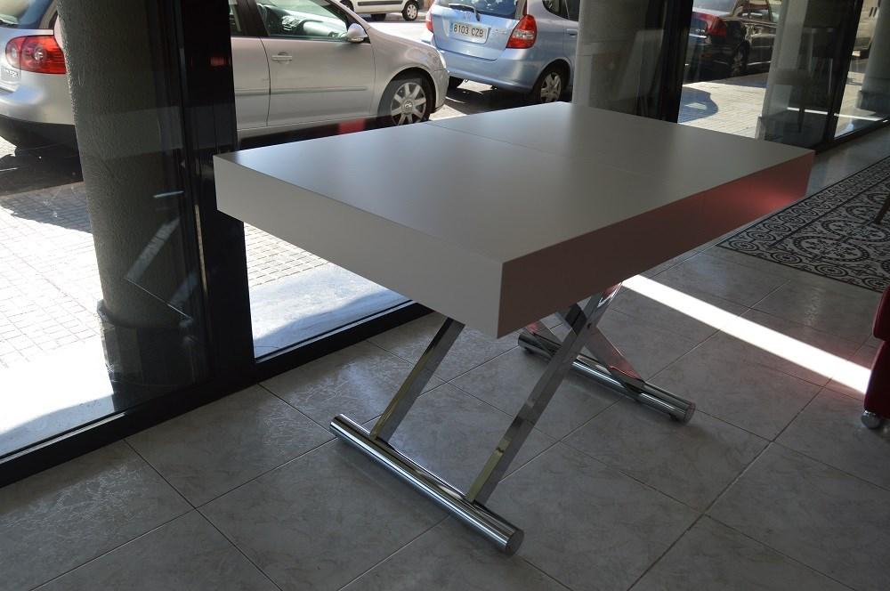 Mesa de centro convertible en mesa de comedor de 120x80 for Mesas de centro comedor