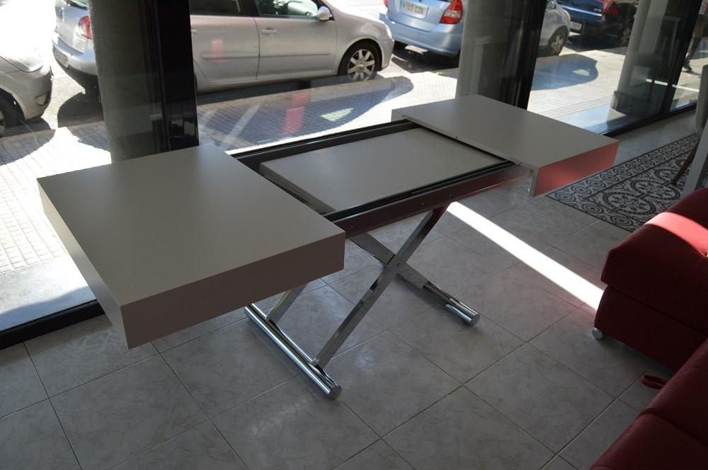 Mesa de centro convertible en mesa de comedor de 120x80 - Centros para mesa de comedor ...