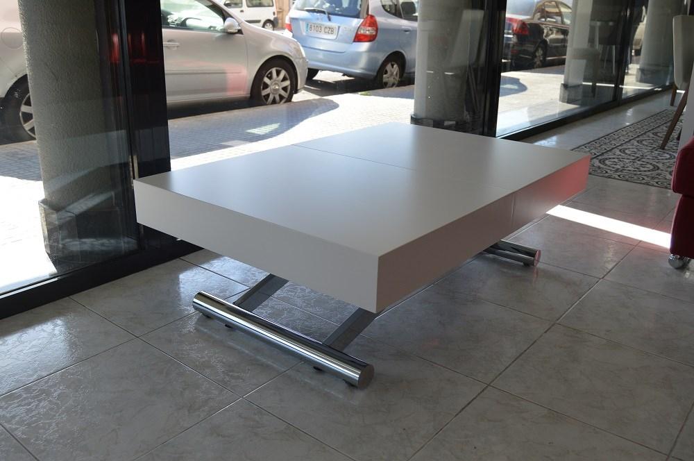 Mesa de centro convertible en mesa de comedor de 120x80.
